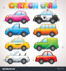 yellow jeep clipart cute cartoon cars police taxi cabrio stock vector 172294283