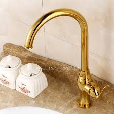 polished brass kitchen faucets gold polished brass kitchen faucets one