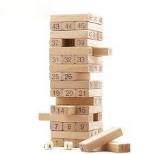 large wooden pieces 23cm large wooden tower wood domino stacker extract figure