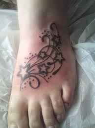 star tattoos on foot tattoo collections