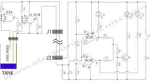 water level indicator circuit diagram electronic circuits