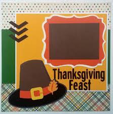 thanksgiving feast layout scrapbooking scrapbook