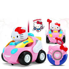 light up remote control car children rc toy hello kitty kt cat remote control car doraemon pink