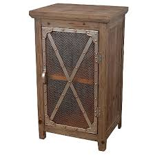 Metal And Wood Cabinet Galvanized Metal And Wood 1 Door Cabinet Kirklands
