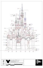 Castle Blueprint Images Cinderella Castle Blueprint