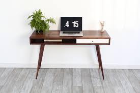 White Modern Desks by Furniture Charming Mid Century Modern Desk For Modern Middle Room