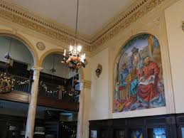 Chandelier Mural The History Behind Cleminson Hall U0027s Murals Grosse Pointe Mi Patch