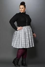 plaid skirt plus size cher plaid skirt grey charcoal society plus