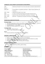 sample of achievements in resume college graduate sample resume