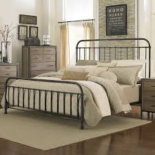 Metal Bed Frame California King Shady Grove Iron Bed In Antiqued By Magnussen Home
