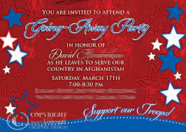 farewell gathering invitation military going away party ideas this is an invite i did for a