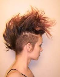 hairstyles with fullness love the natural color and fullness on top undercut mohawk hair