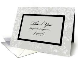thank you card for sympathy or funeral thank you card classic sympathy thank you card