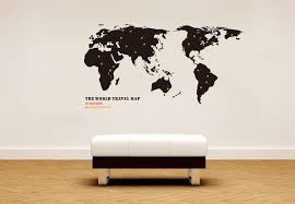 Map Wall Decor by Globetrotting Home Decor World Map Wall Decals