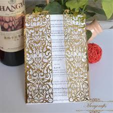 gatefold wedding invitations 50pieces metallic gold laser cut luxury gatefold wedding