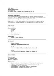 Branding Statement For Resume Resume Personal Statement Examples Hairdresser Cv Example Essays