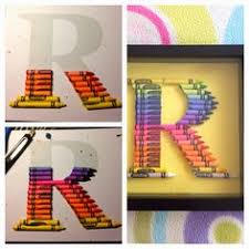 crayon monogram great gift for teachers gift ideas