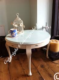 Country Coffee Tables by Large Round Shabby Chic Coffee Table Duckegg Top And Cream Queen
