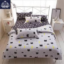 batman mask print bedding set cartoon style white color kids twin full queen size duvet cover
