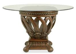Emejing Glass Top Pedestal Dining Room Tables Photos Room Design - Glass top dining table adelaide