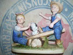 home interior denim days denim days playtime porcelain figurine 8827 by kenakreations