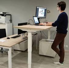 bureau debout assis bureau assis debout électrique bureau réglable en hauteur techni