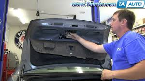 how to install replace trunk latch 2006 12 chevy impala youtube