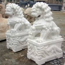foo dog statues style white marble foo dog lions statue for garden