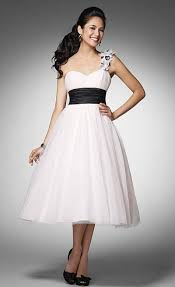 alfred angelo ice pink and black tea length prom dress 3532s