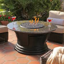 Patio Furniture With Fire Pit Set - patio furniture chat group cast aluminum propane fire pit 5pc