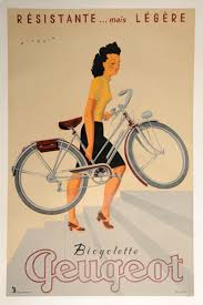 peugeot ad vintage bicycle posters foreshadow car ads vintage bicycles