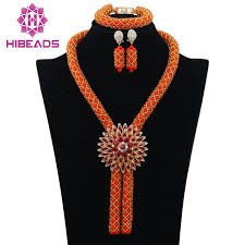 aliexpress bead necklace images Gorgeous coral nigerian african beads jewelry set dubai gold jpg