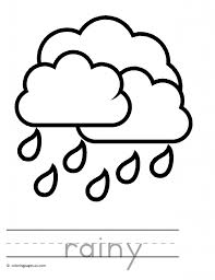 Preschool Rainy Day Coloring Pages Rainy Day Coloring Pages