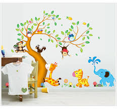 Nursery Decor Stickers Nursery Room Decor Wall Stickers For Rooms Oversize Jungle