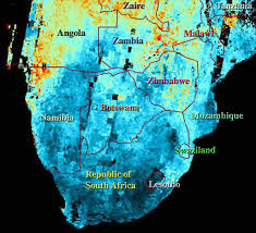 Southern Africa Map Space Images Airborne Particulates Over Southern Africa
