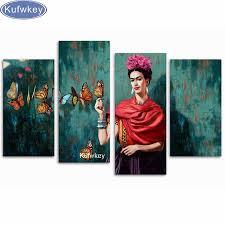 buy 5d diy diamond mosaic frida kahlo butterflies large full
