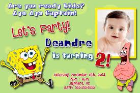 spongebob squarepants birthday invitations partyexpressinvitations