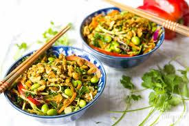 spicy raw thai salad vegan one green planet
