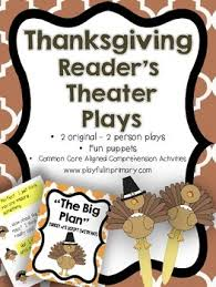 reader s theater plays thanksgiving 2 parts 2 plays fluency