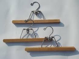 coat closet hangers vintage wooden clothes suit hanger lot