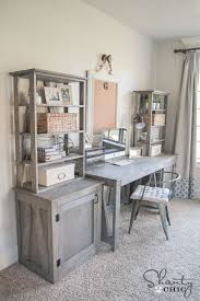 Gray Office Desk Diy Bookcase Desks Free And Diy Bookcases