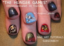 the hunger games nails nail art design youtube