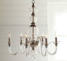 Candle Chandelier Pottery Barn Blown Glass Chandelier Pottery Barn