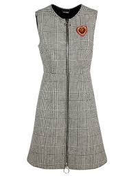 houndstooth dress ermanno scervino ermanno scervino houndstooth dress grey