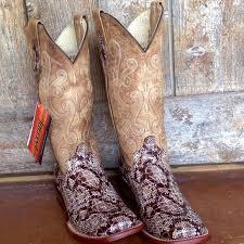 ferrini s boots size 11 58 ferrini shoes ferrini all leather python print square