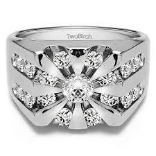 10k gold men u0027s wedding ring with charles colvard created