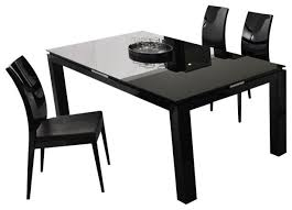 black contemporary dining table beautiful dining table black modern tables by inmod in