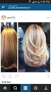 images of blonde layered haircuts from the back medium layered haircut hair color or styles pinterest medium