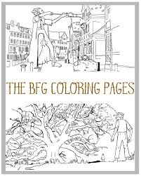 the bfg coloring pages simply being mommy