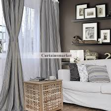 Grey And White Striped Curtains Striped Curtains Free Home Decor Techhungry Us